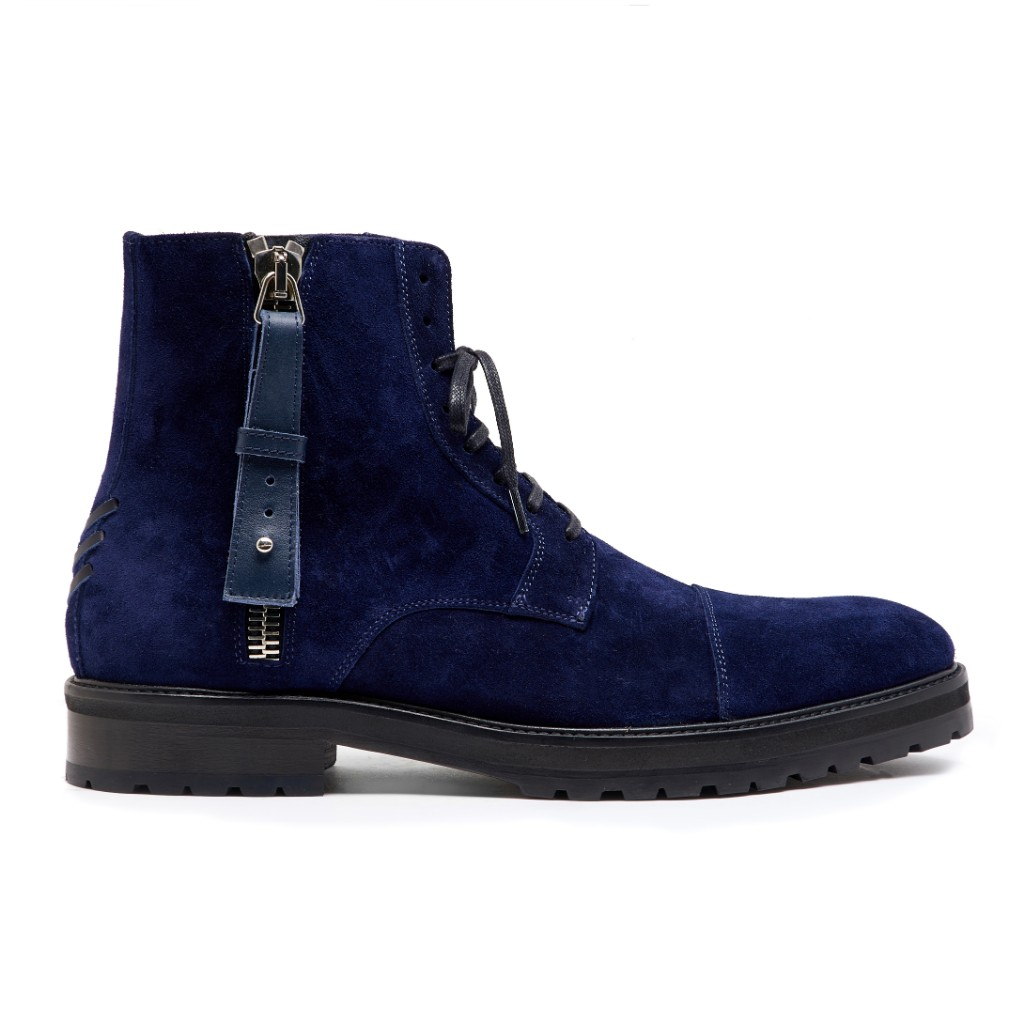 Snowdon Military Navy Suede 1