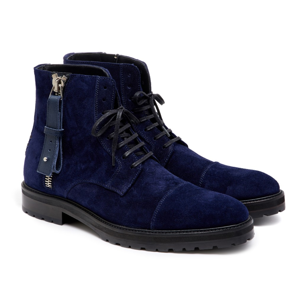 Snowdon Military Navy Suede 2
