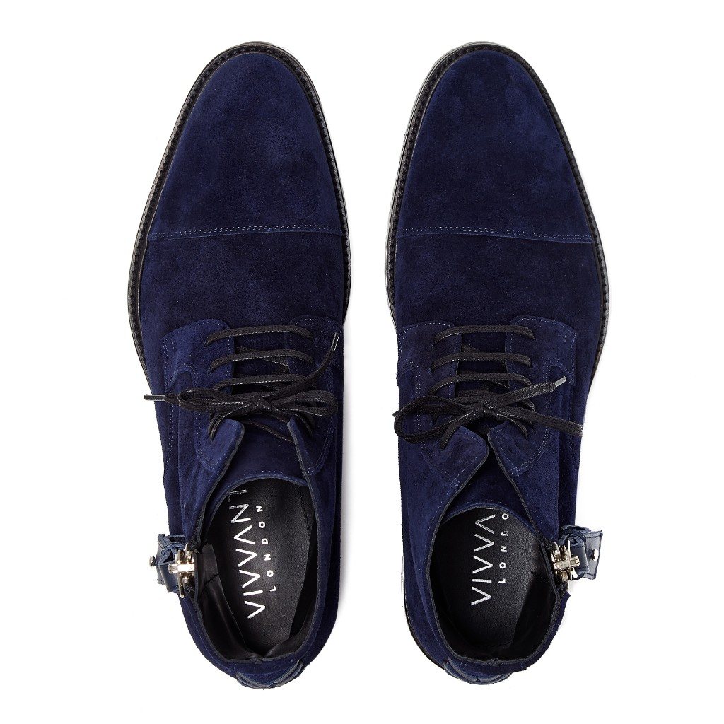 Snowdon Military Navy Suede 4