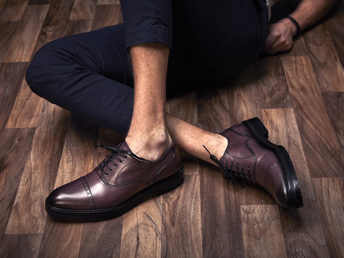 about us burgundy Oxford shoes
