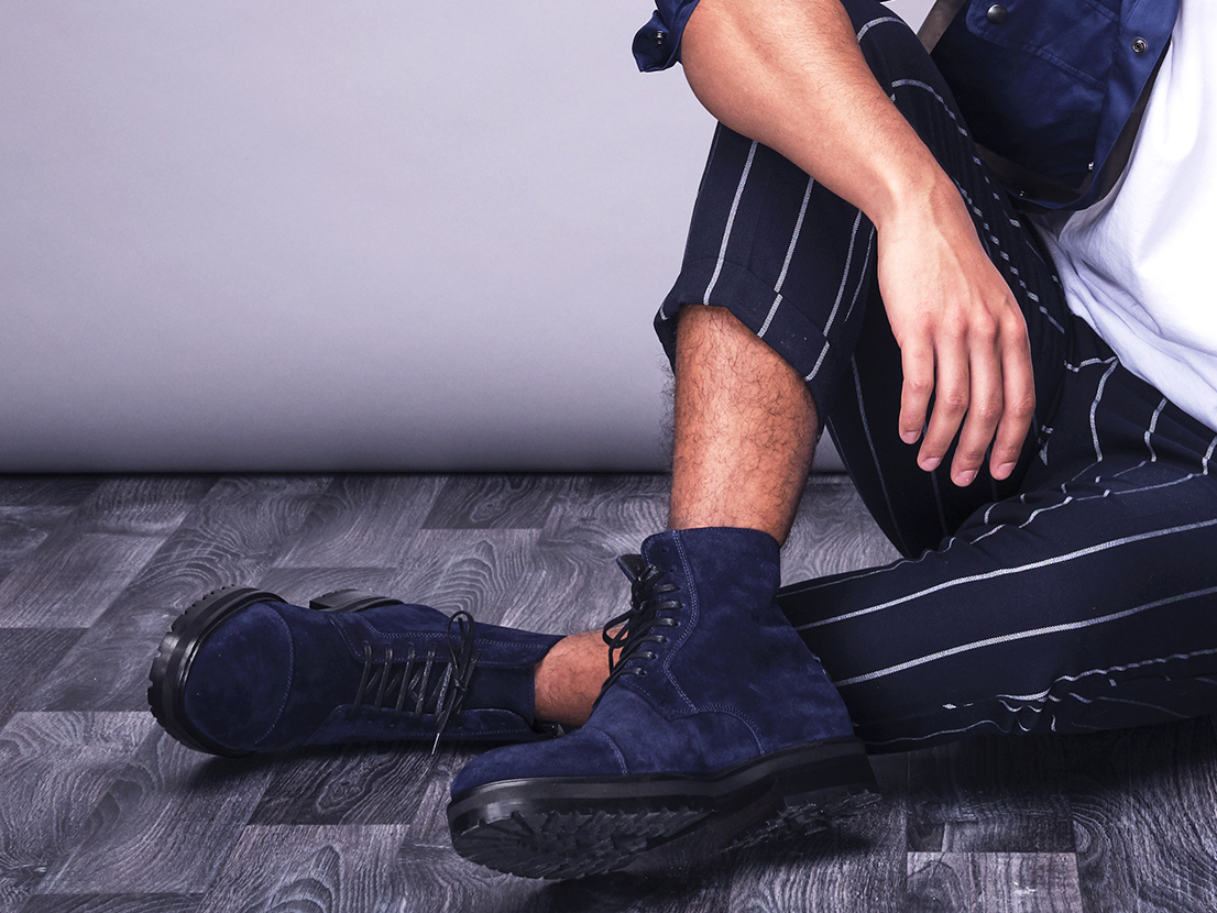 Front Page Level 3 Blue Suede Boots