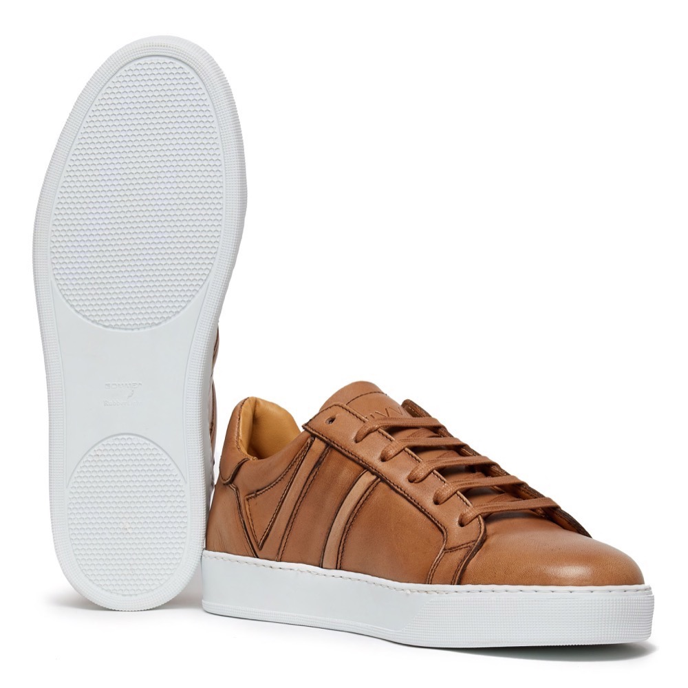 Sneakers Burinish Brown Leather A