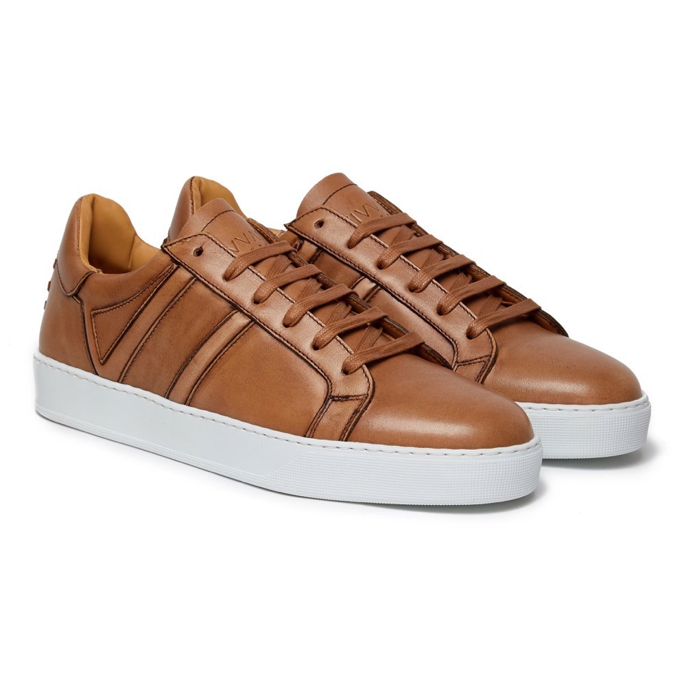 Sneakers Burinish Brown Leather F