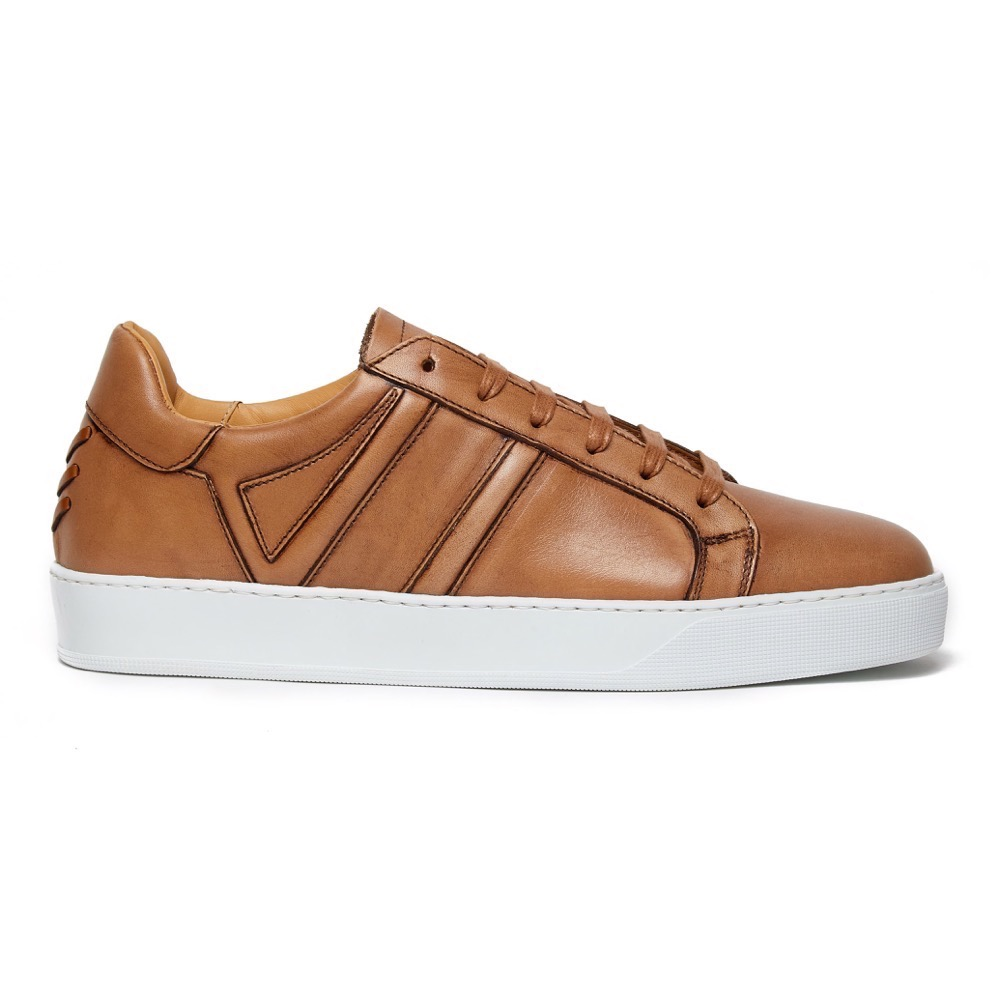 Sneakers Burinish Brown Leather S