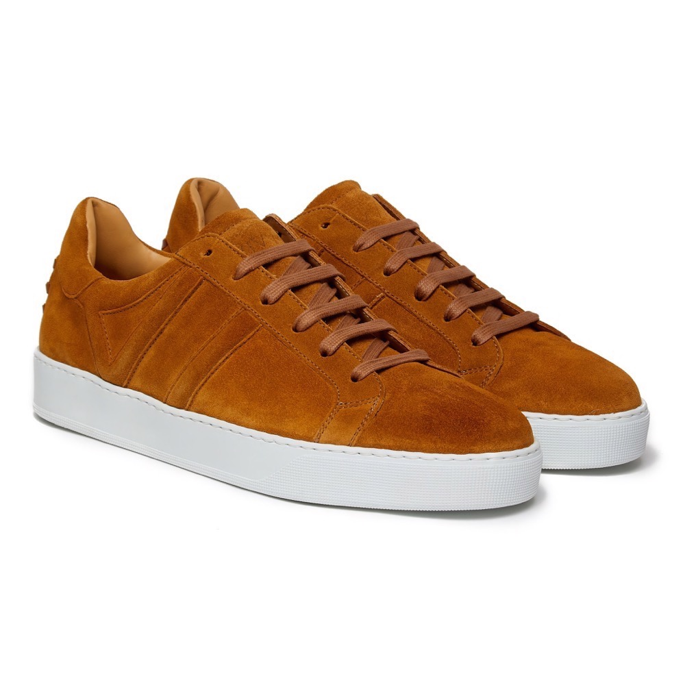 Sneakers Suede Tan F