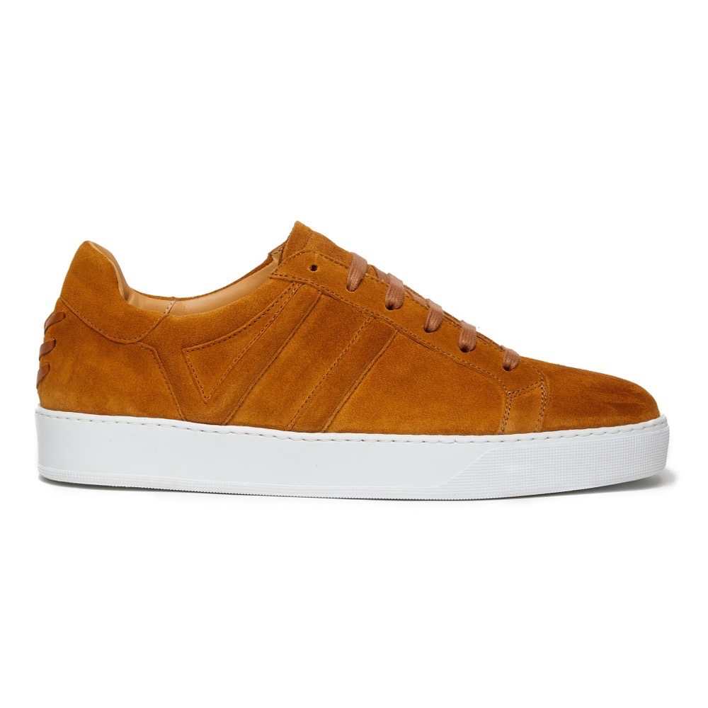 Sneakers Suede Tan S