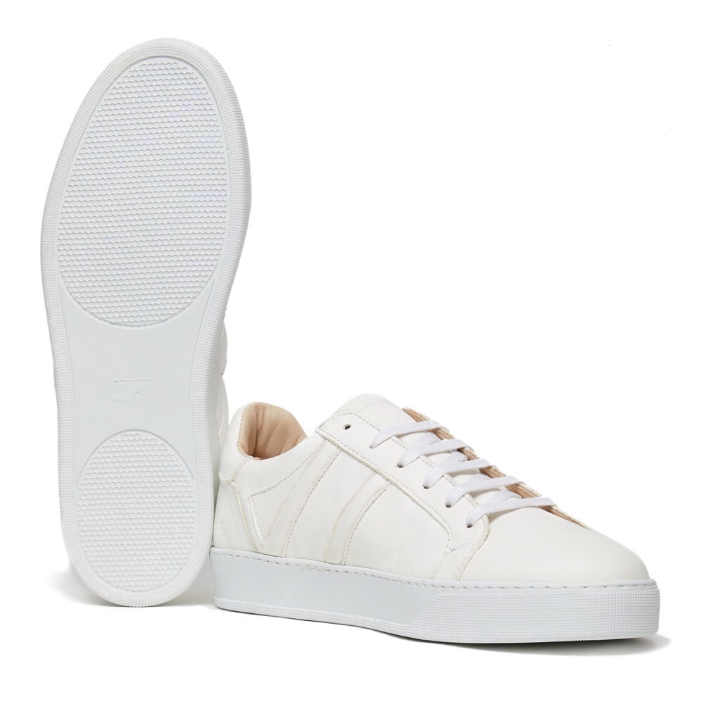 Sneakers White Grainy A