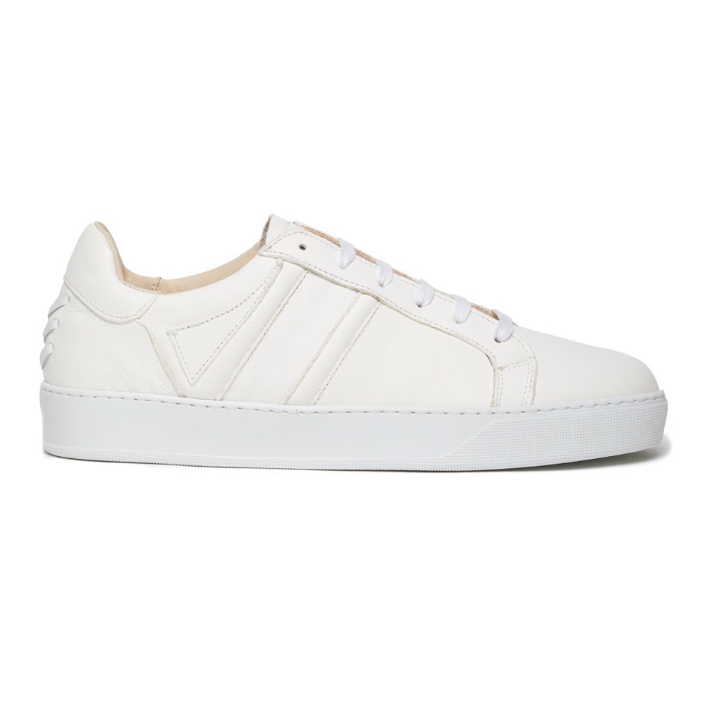 Sneakers White Grainy S